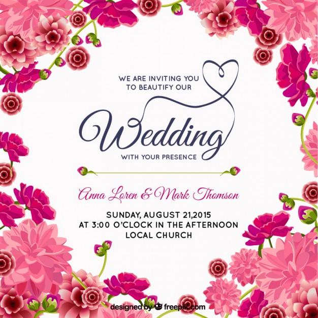 Rose pink wedding invitations