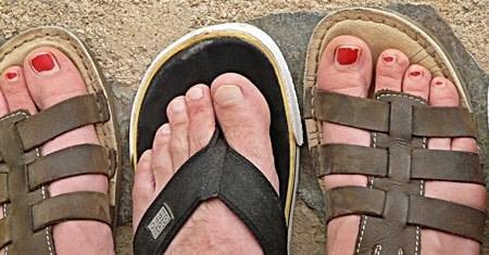 Soften toenails for trimming