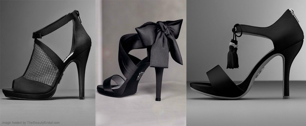 Vera wang wedding shoes with bow