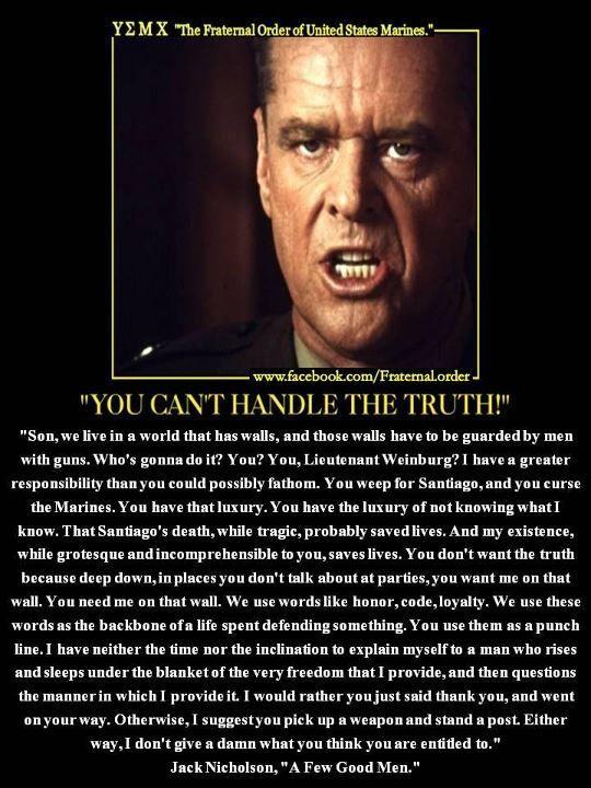 Jack nicholson in a few good men quotes