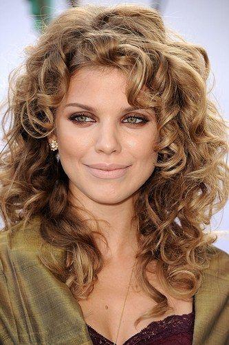 Curly brown hair celebrities