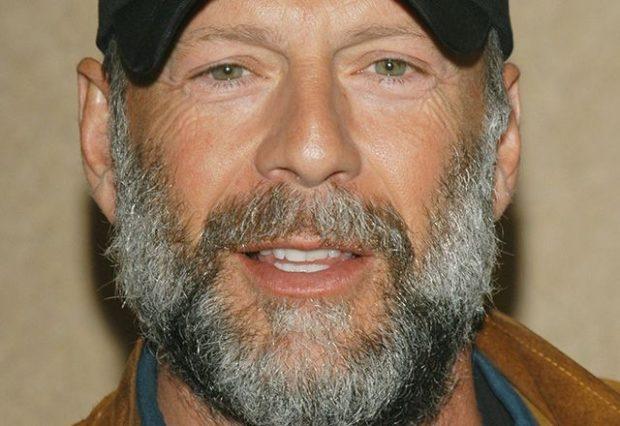 голливудская густая борода с сединой