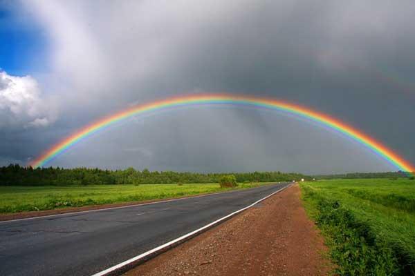 К чему снится радуга цветная тройная