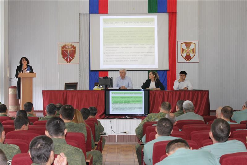 В Махачкале состоялась встреча военнослужащих Росгвардии с представителями республиканских финансовых организаций