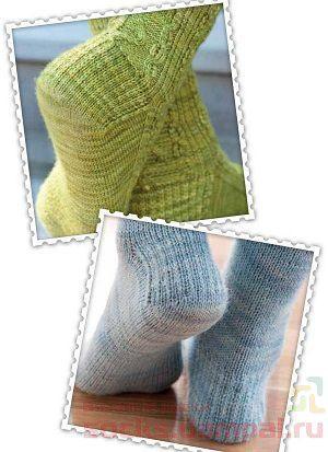 Как вязать пятку носка спицами подробное