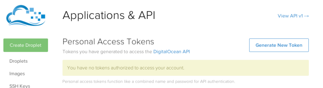 digital ocean application settings