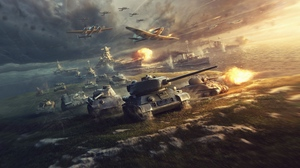Превью обои world of tanks, world of warplanes, world of warships, wargaming net, wows