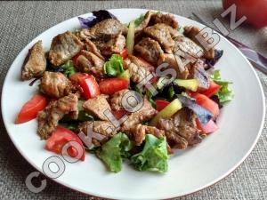 Рецепт теплый салат с телятиной