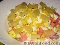 Слоеный салат с ананасом