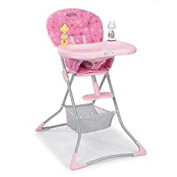 Graco teatime highchair pink