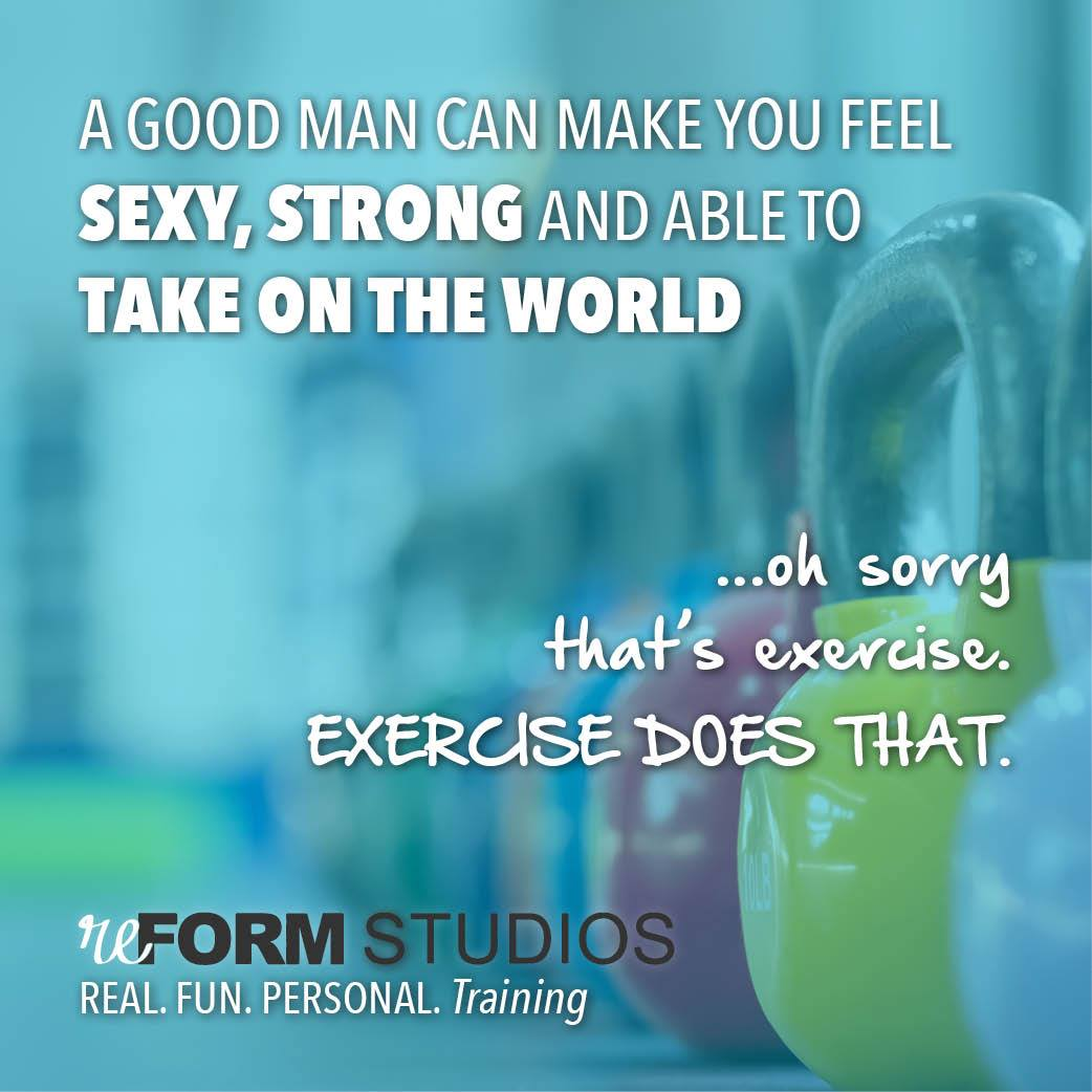 exercise makes you feel sexy