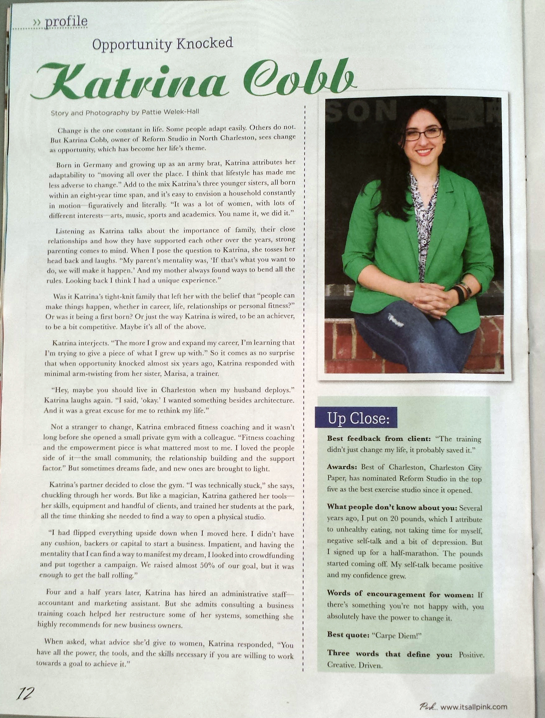Katrina Cobb Pink Magazine Featured Woman