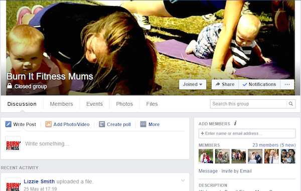 New Private Facebook Group For Our Born To Burn It Fit Mums