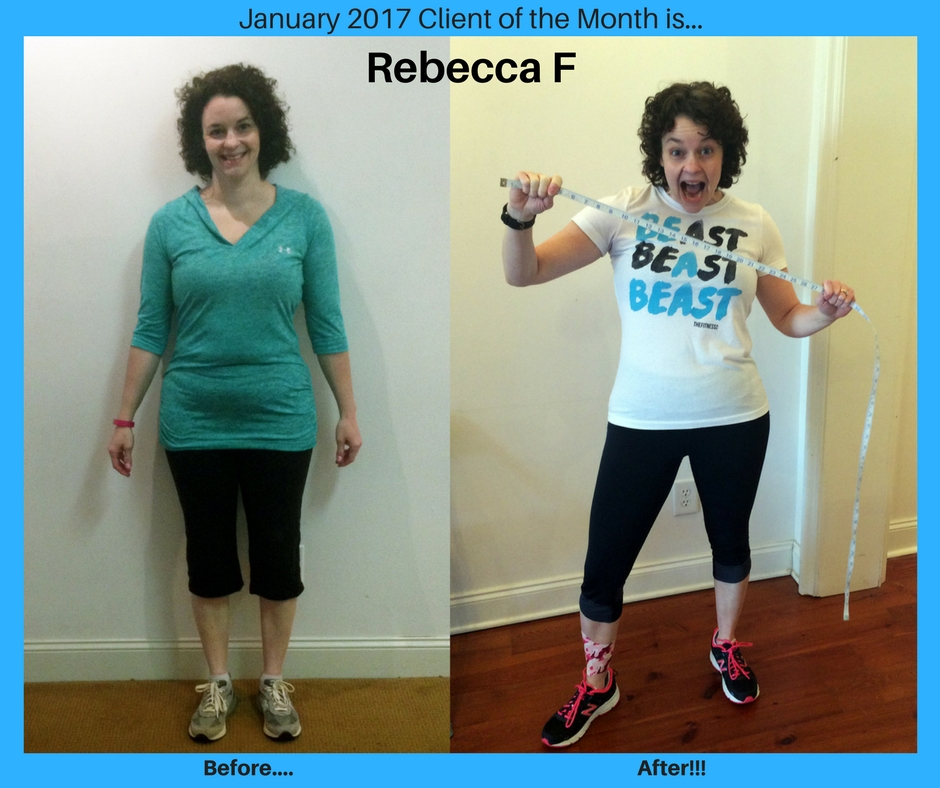 January 17 Client of the Month Rebecca