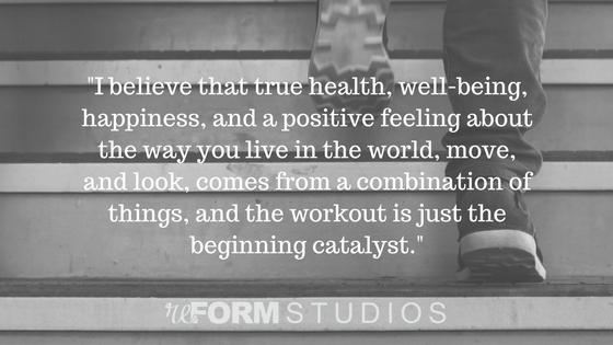 true health is not about the workout