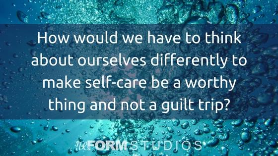 self care self worth priority system