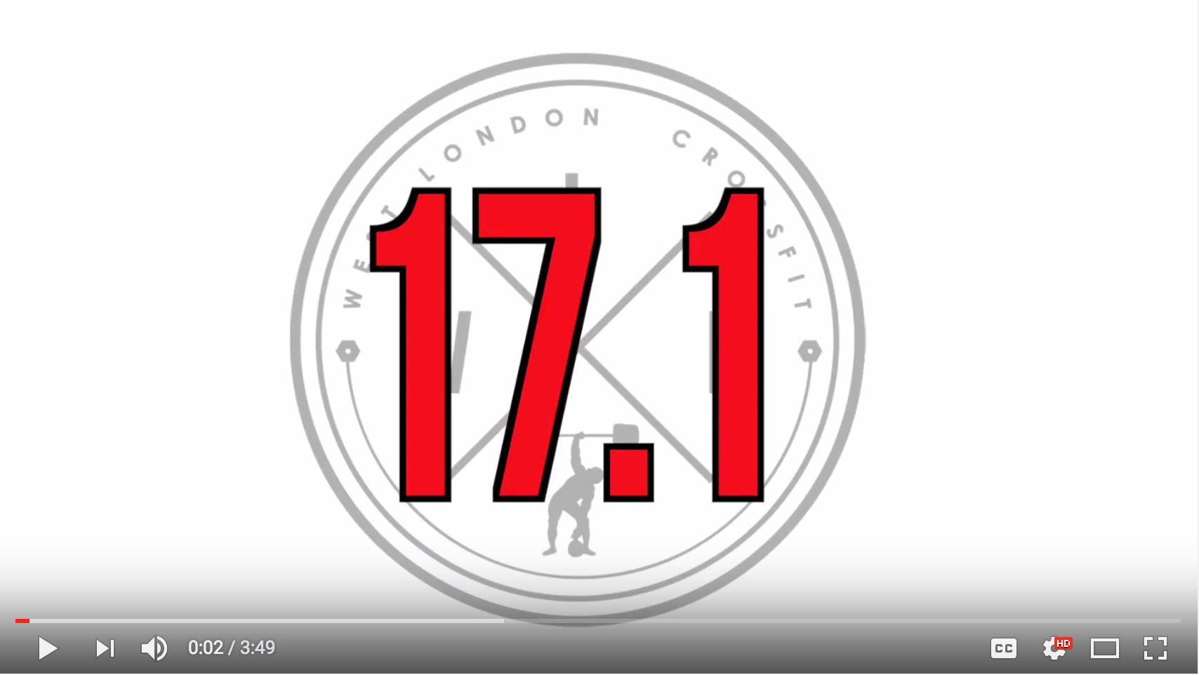 CrossFit OPEN 17.1 Strategy Video