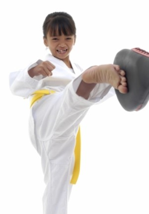 students in kids martial arts at Randy Crudup's Karate Academy