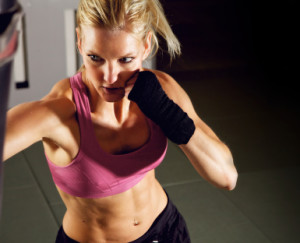 students in womens kickboxing fitness at Thurston Academy