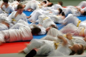 students in kids karate at Diamond Martial Arts