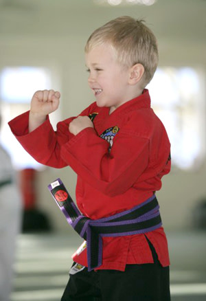 students in kids martial arts at Cassar Academy