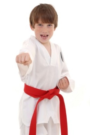 students in kids karate at Krav Maga Institute