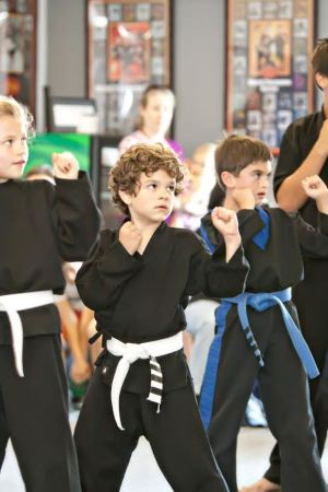 students in kids martial arts at World Champion Karate