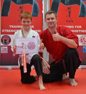 students in kids karate at Southern Cross Martial Arts