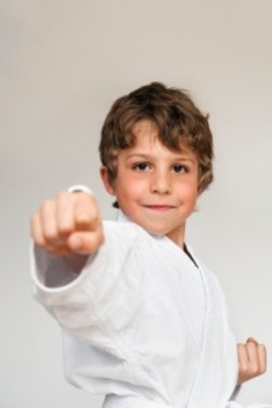 students in kids karate at Eagle Martial Arts - Boonton