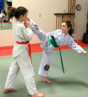 students in kids martial arts at The Martial Instinct Self Defense