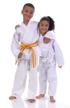 students in kids karate at Amerikick Martial Arts Northeast Philly
