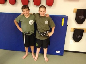 students in kids karate at Smithtown Krav Maga