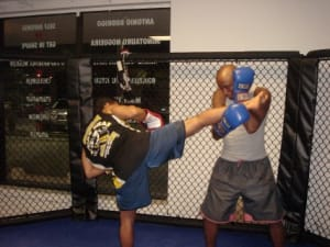 students in muay thai kickboxing  in Palm Beach Gardens - Team Nogueira Bloise Academy