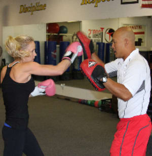 students in private training at Trans Fitness & Kickboxing - Denver