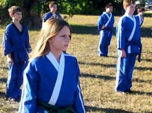 students in summer camp  in Bradenton - Ancient Ways Martial Arts Academy