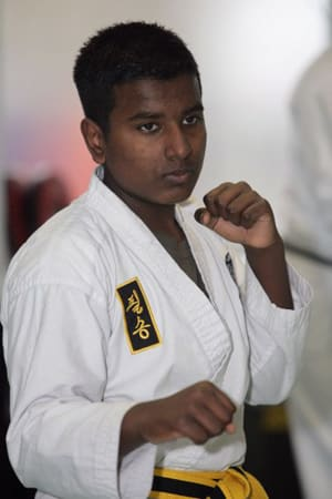 students in teen martial arts at Cassar Academy