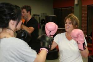 students in kickboxing fitness  in Bellevue - American Academies of Martial Arts