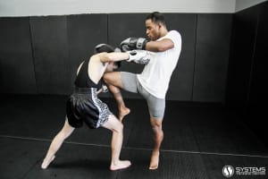 students in muay thai kickboxing at Systems Training Center