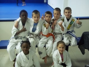 students in kids jiu jitsu at South Jersey Jiu Jitsu