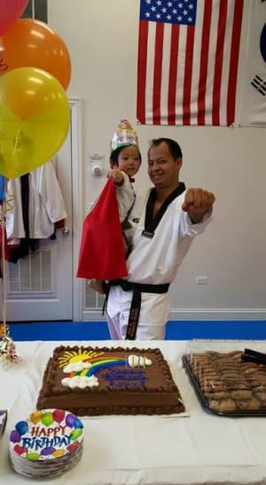 students in birthday parties  in Chicago - Chang's Martial Arts Academy