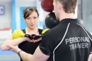 students in semi private personal training at FitRanX Westminster