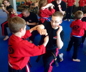 students in bully self defense seminar in Springfield - Storm MMA