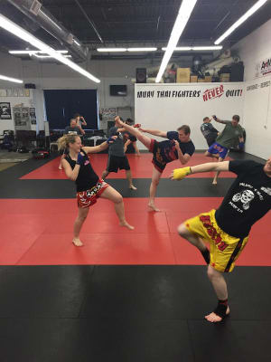 students in muay thai  in CAMBRIDGE - American Martial Arts Center
