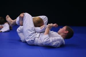 students in kids martial arts at Dark Horse Brazilian Jiu Jitsu