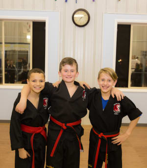 students in kids martial arts at Dover Dragons