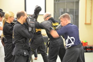 students in adult martial arts at Personal Best Karate
