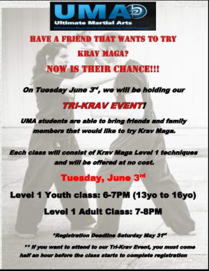 Kids Martial Arts in Chicago - Ultimate Martial Arts - TRI Krav Event today