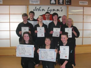 Kids Karate in Rhyl - John Lynns BBA - Black Belt Gradings
