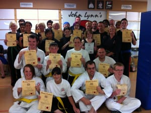 Kids Karate in Rhyl - John Lynns BBA - Student Gradings