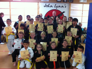 Kids Karate in Rhyl - John Lynns BBA - Last Weekend Karate gradings